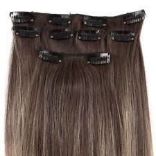 Extensions de cheveux longs bruns clairs pour femme