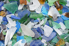 1 Lb Lite Color Mix  Beach /  Sea Glass for Crafts Mosaic Lamp & Vase Filling