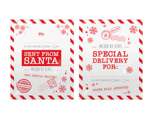 2 x EXTRA LARGE SENT FROM SANTA CHRISTMAS GIFT SACKS - presents xmas elf elves