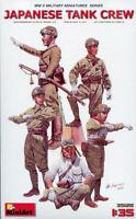Miniart 1:35 Japanese Tank Crew WWII Plastic Figure Kit #35128X
