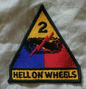 WW2 Army 2nd ARMORED Division HELL ON WHEELS Patch