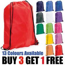Polyester Drawstring School Book Bag Boys Girls Kids Adult Gym PE Kit Sack Dance