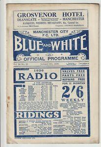 Manchester City V Sunderland Rare Division One 1935/36 Sunderland Champions
