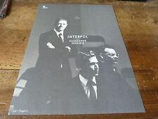 INTERPOL - Mini poster Noir & blanc 2 !!!!!!!!!!!!!!!