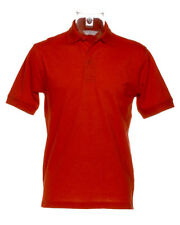 Size 3XL Kustom Kit KK403 Red Polycotton Mens Short Sleeved Polo Shirt Work New