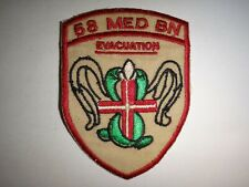 US 58th Medical Battalion EVACUATION (May 1970 - may 1972) Vietnam War Patch