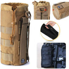 Outdoor Tactical Bottle Holder MOLLE Water Bottle Drawstring Pouches for Hiking