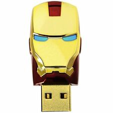 Ironman Hero LED Lights 16GB Flash Drive USB 2.0 Storage Memory Unique Novelty