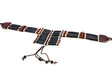 Handmade Tribal Native American Buffalo Bone Hairpipe Choker Necklace
