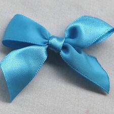50pcs Mini Satin Ribbon Flowers Bows Gift DIY Craft Wedding Decoration U pick M5