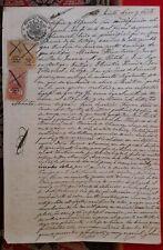 PERU multiple revenues 1 + 10 Sol plata 1870 1871 on legal sealed document Lima