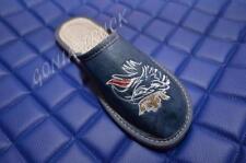 Pantofole da donna blu 100% pelle