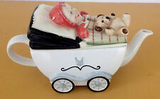 PRICE KENSINGTON BABY IN CARRIAGE FIGURAL TEA POT ADORABLE!
