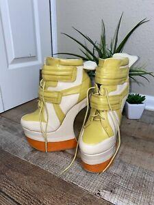 Mona Mia Collezione Shoes Heel Less Wedge size 8 Retro 80s