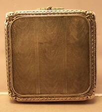New listing Art Deco Nickel Silver Compact Case.