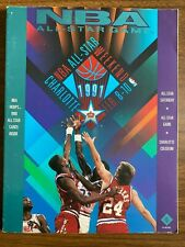 1991 NBA All Star Program With All Star Trading Cards Baseketball