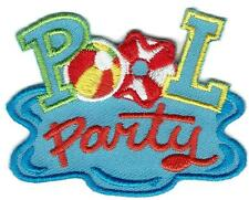 Girl Boy Cub Blue POOL PARTY day swimming Fun Patches Crest Badges SCOUT GUIDE