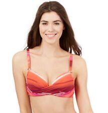 8e03308201bf3 £28 Jasper Conran red orange pink underwired bikini top swimming costume 32B