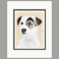 Parson Jack Russell Terrier Smooth Coat Original Art Print 8x10 Matted to 11x14