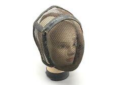 Ancien masque d'escrime XIX ,Vintage Old Metal Fencing Mask Helmet  en grillage