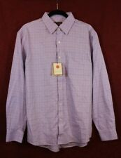 NWT Red House Men's Shirt Button Down Non-Iron Medium Lavender With Squares L/S