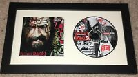ROB ZOMBIE +2 SIGNED AUTOGRAPH HELLBILLY DELUXE 2 FRAMED & MATTED CD w/PROOF