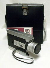 Canon Auto Zoom 518 Super 8 Cine Film Camera w/Manual & Case Tested Working