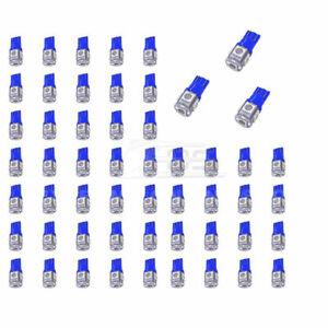 Brand New 50 Pcs Blue T10 5-SMD Wedge 5050 Auto Use LED Light Bulbs Xenon