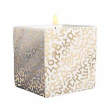 Keith Haring Gold Pattern Square Candle 9 oz - 40 Hours Burn Time - Floral Scent