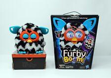 Furby Boom Figure - Rare Model - Black and White Zigzag stripes - 2013 - A4339