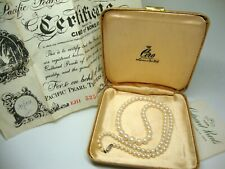 Vintage Ciro Cultured Pearl Necklace + Original Box and Certificate