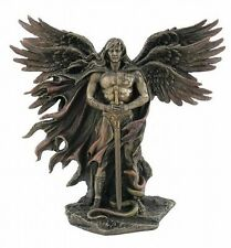 Guardian Angel Statue Six Winged Male Cherub Christian Bronze Finish #WU75976A4