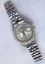 Authentic Rolex Lady Datejust 6900 Steel Diamond Dial Bezel Watch Wristwatch