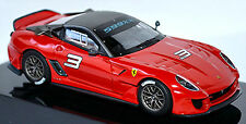 Ferrari 599xx Coupe 2009 #3 Rouge Red 1:43 Hot Wheels Elite