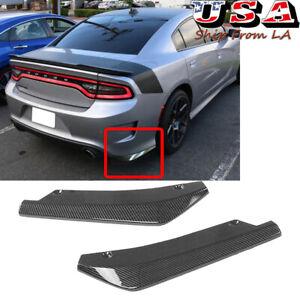 Carbon Fiber Rear Bumper Splitter Diffuser Canards For Dodge Challenger Charger