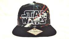 Star Wars Original Snap Back Baseball Hat Cap One Size Flat Bill Black Bioworld