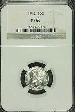 Mercuey Silver Dime. 1942 NGC PF 66  LOT # 3720667-009