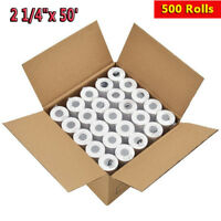 "500 Rolls 2 1/4"" x 50' Thermal Receipt Paper Roll for Mobile POS Thermal Printer"