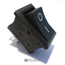 Interrupteur à bascule 250V 6A, ON OFF, Noir, 2 Broches. switch DIY, v1
