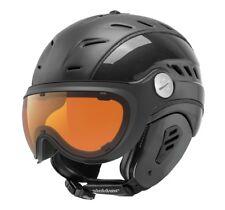 Slokker Bakka Black Visor Ski Helmet Snowboard Optimal for Spectacle Wearers