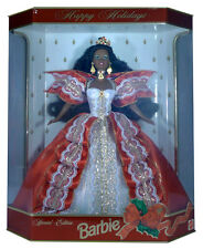 BARBIE - Poupée Happy Holidays 1997 AFRO brune Mattel Special Edition neuve Misb