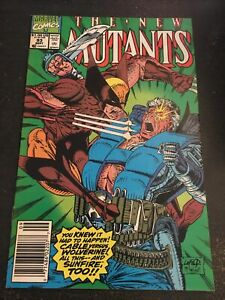 New Mutants#93 Awesome Condition 8.0(1990) Wolverine , Sunfire,Liefeld Art