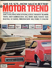 Motor Trend Magazine September 1967 '68s vs. '67s How Much Better? EX 061316jhe