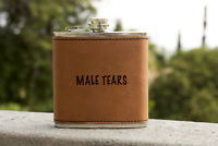 Male Tear Leather flask,Personalized Flask,wedding favor,Funny flask,hip flask