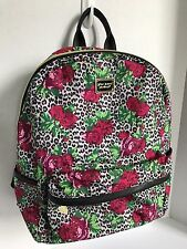 BETSEY JOHNSON BACKPACK SIGNATURE BANNER FUSHIA ROSE TRAVEL SCHOOL SHOULDER BAG