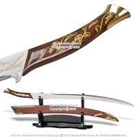 """38"""" Hadhafang Fantasy Princess Sword Scimitar Engraving Blade with Scabbard"""