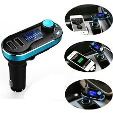 FM Transmitter Dual USB Car Charger for LG G6 Samsung Galaxy S8 Sony Xperia Z3