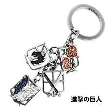 Attack on Titan Metal Keychain 4 Pendants Anime Figure Toy Shingeki No Kyojin