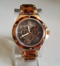 Women's Tortoise Shell/Gold Finish Boyfriend  Fashion Dressy/Casual Watch