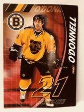 "Original Boston Bruins Sean O'Donnell Hockey Card 7"" x 5"" Sports Memorabilia"